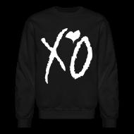 Long Sleeve Shirts ~ Crewneck Sweatshirt ~ CREW Love- XO Signature Black