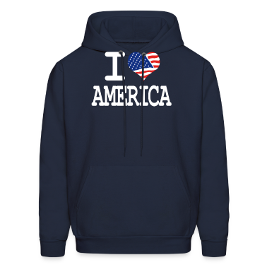 i love America Hoodies