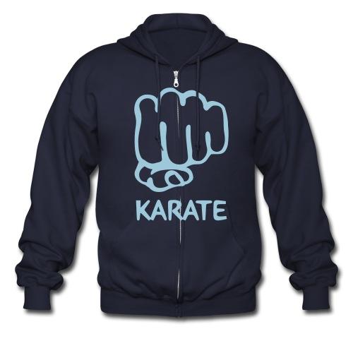 karate zipped Sweater - Men's Zip Hoodie