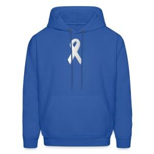 Lung Cancer Awareness - Men - Men's Hoodie