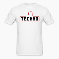 I Love Techno headphones music minimal gabber club bass beat hardcore T-Shirts