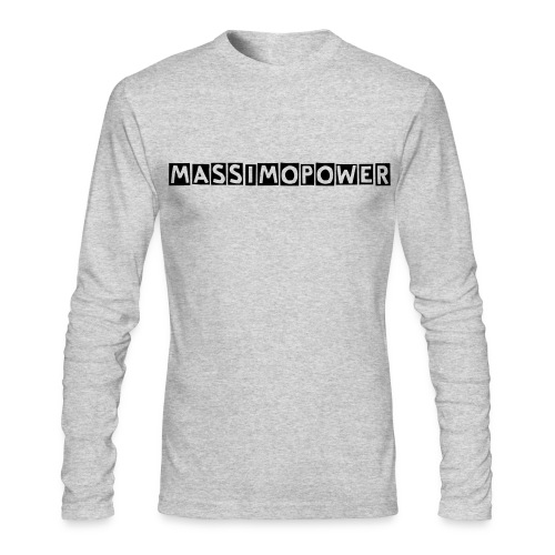 Massimo Power Blocked Letters Long Sleeve Shirt Black Font - Men's Long Sleeve T-Shirt by Next Level