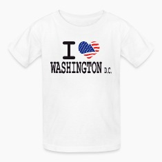 i love washington dc Kids' Shirts