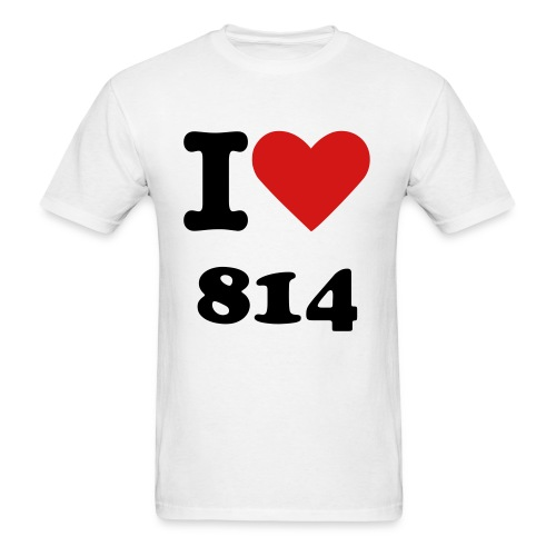 I Love 814 - Men's T-Shirt