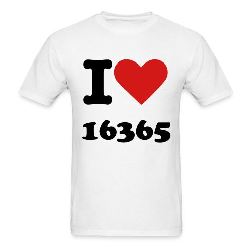 I Love 16365 - Men's T-Shirt
