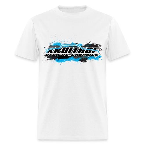 Kruithof Designs White Grunge Tee - Men's T-Shirt