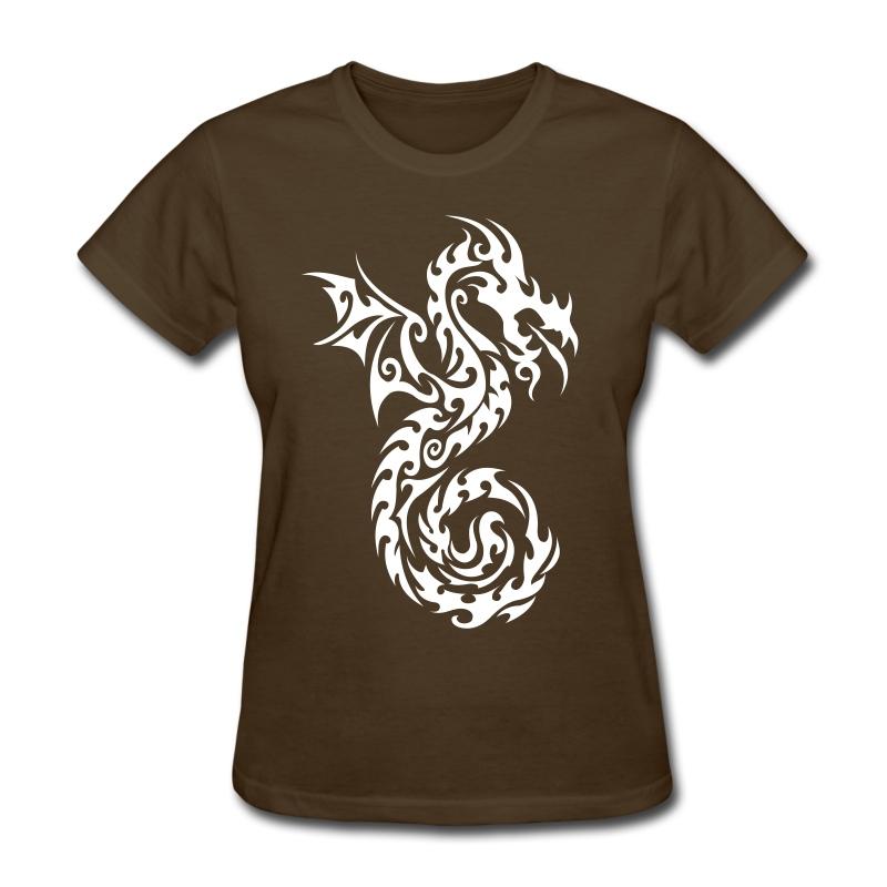Dragon tribal tattoo 13 t shirt spreadshirt for Tribal tattoo shirt