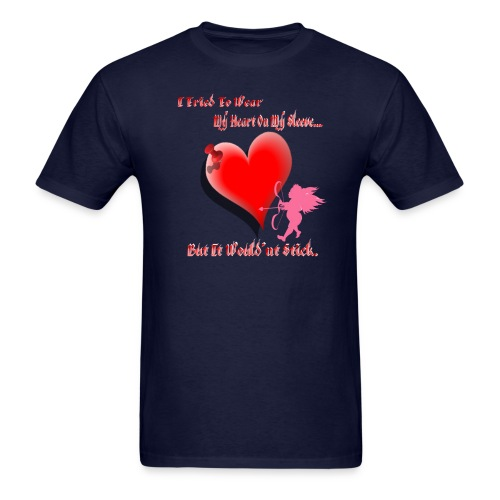 Wanted My Heart On My Sleeve - Men's T-Shirt