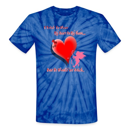 Wanted My Heart On My Sleeve - Unisex Tie Dye T-Shirt
