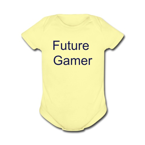 Future Gamer' One Piece  - Organic Short Sleeve Baby Bodysuit