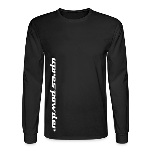 Apres Powder Text Tee: Black/White - Men's Long Sleeve T-Shirt