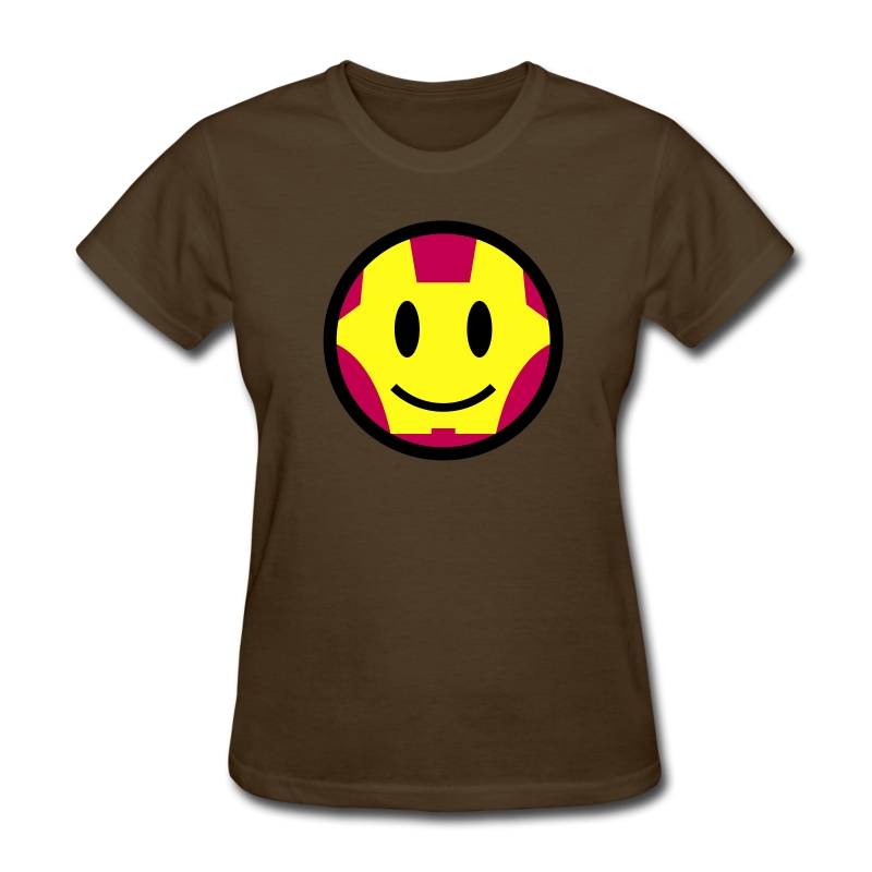 iron smiley man iron man icon 3c women 39 s t shirts women 39 s t shirt. Black Bedroom Furniture Sets. Home Design Ideas