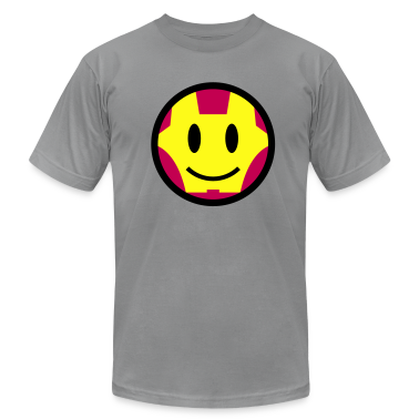 Iron Smiley Man / Iron Man Icon 3c T-Shirts