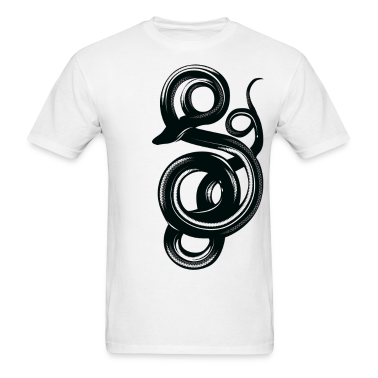 Curling Snake HD Design T-Shirts