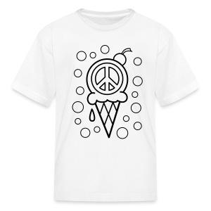Ice Cream Cone Coloring T-shirt -2 - Kids' T-Shirt