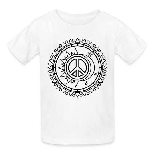 Day and Night Coloring T-shirt - Kids' T-Shirt