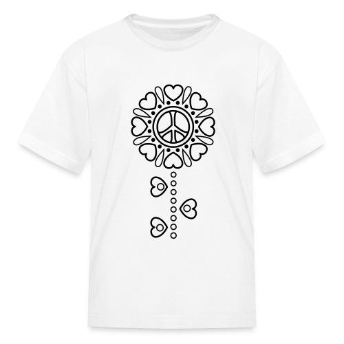 Hearts Flower Coloring T-shirt -2 - Kids' T-Shirt