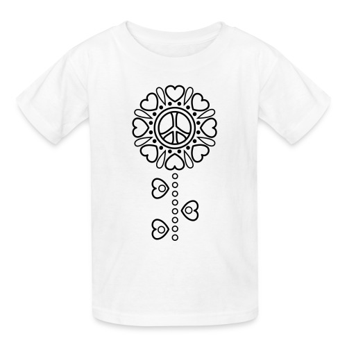 Hearts Flower Coloring T-shirt -2 - Kids' T-Shirt