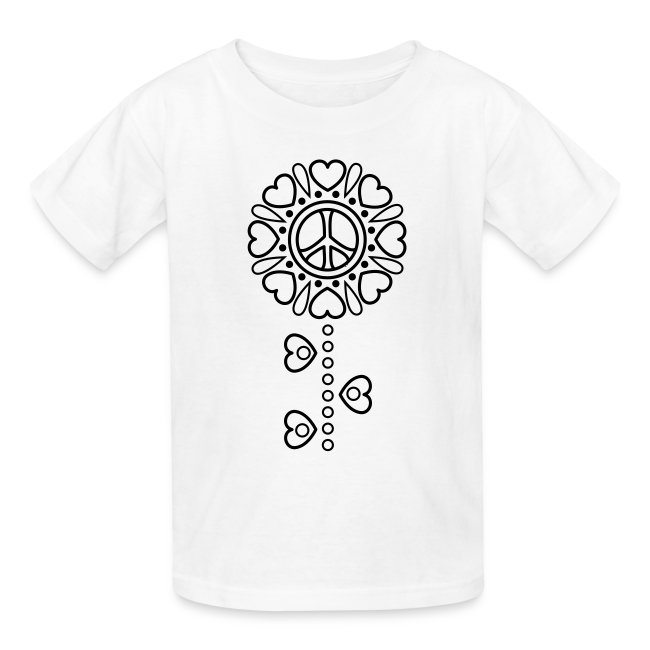 Hearts Flower Coloring T-shirt -2