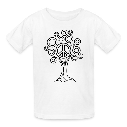 Peace Tree Coloring T-shirt - Kids' T-Shirt