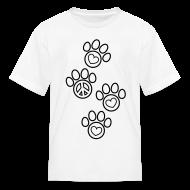 Kids' Shirts ~ Kids' T-Shirt ~ Paw Prints Coloring T-shirt