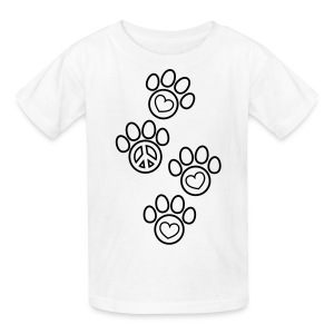 Paw Prints Coloring T-shirt - Kids' T-Shirt