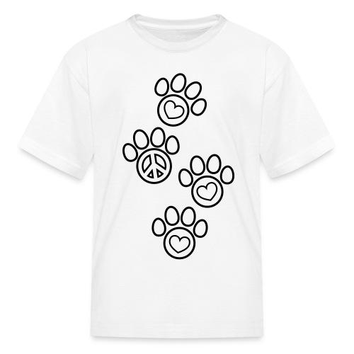 Paw Prints Coloring T-shirt - Kids' T-Shirt