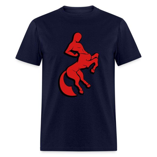 Centaur (Red/Black) Men's Standard Weight T-Shirt