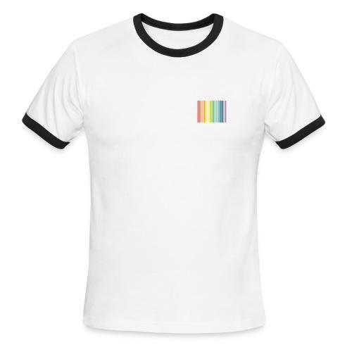 AMERICAN APPAREL RAINBOW - Men's Ringer T-Shirt