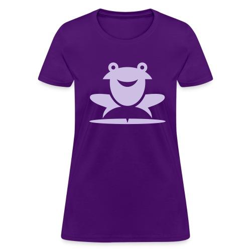 Froggie (Purple) Women's Standard Weight T-Shirt - Women's T-Shirt