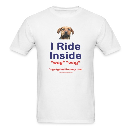 Official Dogs Against Romney I Ride Inside Rusty (Mutt) Tee - Men's T-Shirt