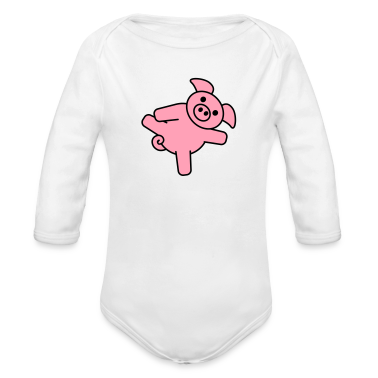 pig_with_dick Baby Bodysuits