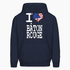 i love baton rouge  - white Hoodies