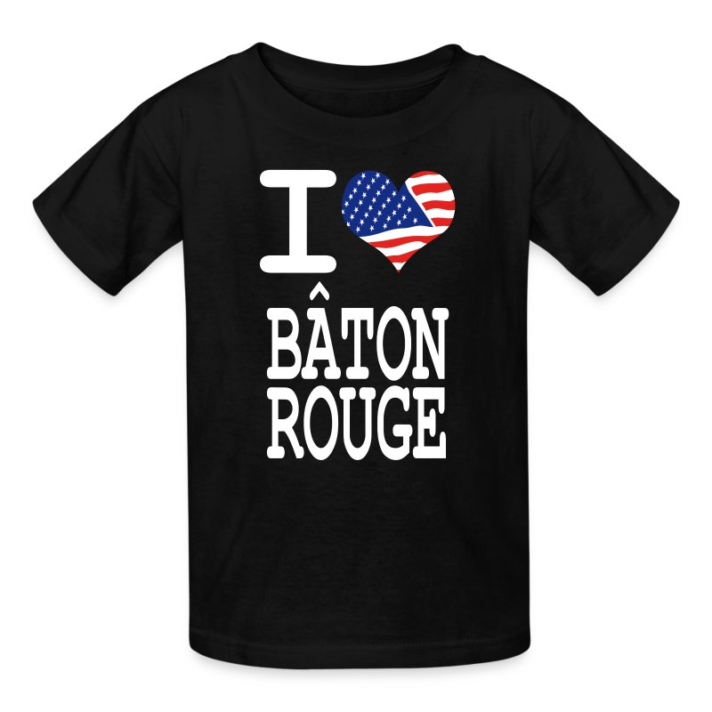 I love baton rouge white t shirt spreadshirt for Custom t shirts baton rouge