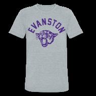 T-Shirts ~ Unisex Tri-Blend T-Shirt ~ EVANSTON WILDCATS