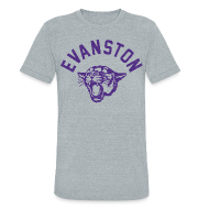 T-Shirts ~ Unisex Tri-Blend T-Shirt by American Apparel ~ EVANSTON WILDCATS