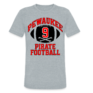 T-Shirts ~ Unisex Tri-Blend T-Shirt ~ J.J. WATT H.S. THROWBACK