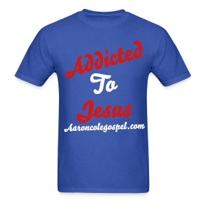 Addicted to Jesus Tee- Red,White,and Blue - Men's T-Shirt