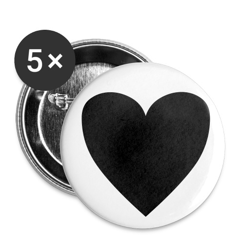Black Heart Button  - Small Buttons