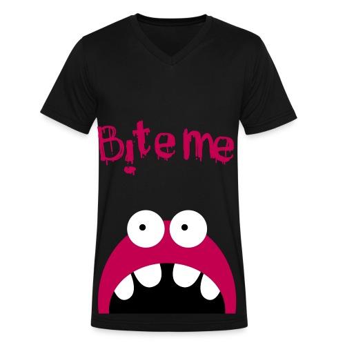 Bite Me - Men's V-Neck T-Shirt by Canvas