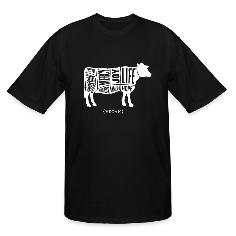 Men's 'Words to Live By' Shirt - Cow - Men's Tall T-Shirt