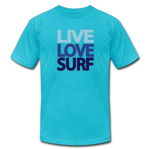 Live Love Surf Mens Shirt - Men's Fine Jersey T-Shirt