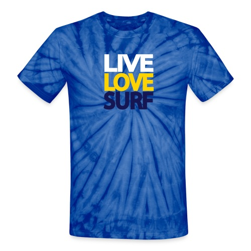 Live Love Surf Tie Dye Shirt - Unisex Tie Dye T-Shirt