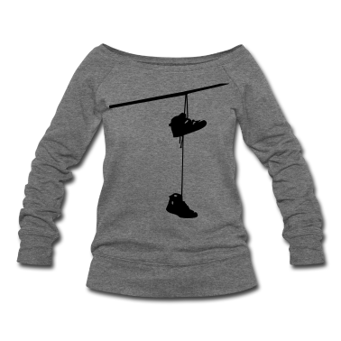 shoefiti shoes hanging bootlace shoelace lace streetart line cable Long Sleeve Shirts