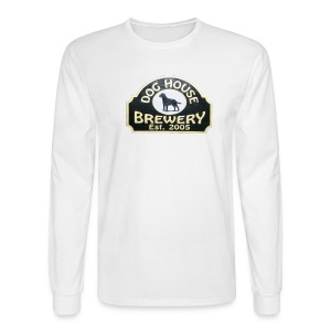 Dog House Brewery Mens Long Sleeve White - Hair of the Dog - Men's Long Sleeve T-Shirt