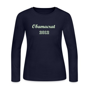 Obamacrat 2012 (Glow) - Women's Long Sleeve Jersey T-Shirt