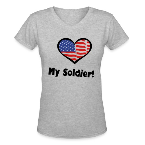 Soldiers - Women's V-Neck T-Shirt