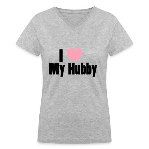 hubby love - Women's V-Neck T-Shirt