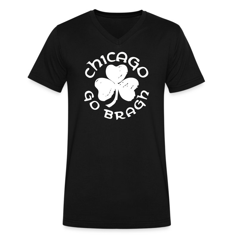 Chicago Go Bragh - Men's V-Neck T-Shirt by Canvas