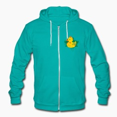 A duck with a crown as a graffiti Zip Hoodies/Jackets
